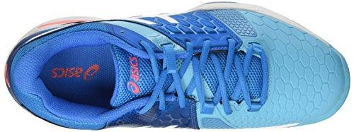 Asics Gel-Blast 7 W, Scarpe da Pallamano Donna Multicolore (Blue Jewel/White/Flash Coral)