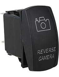 BQLZR Interrupteur relais 5 broches pour caméra de recul voiture avec LED 12V-24V CC