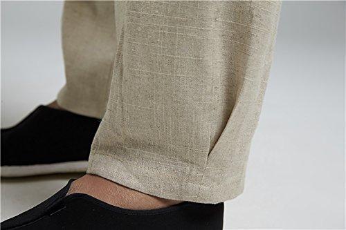 Insun Pantaloni Uomo Casual Spiaggia Pantaloni Pantaloni per Jogging Grigio chiaro