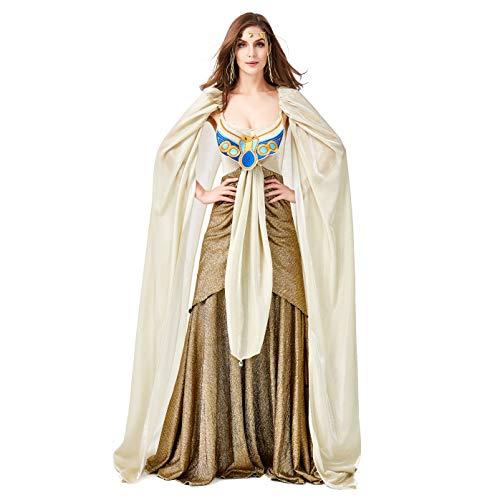 LOLANTA Frauen Cleopatra Kleopatra Kostüm Sexy Frauen Ägyptische Königin Kleid Damen Göttin Halloween Kostüm (Large) (Athena Kostüm Frauen)