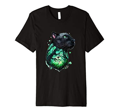 dschungelbild Panther-Dschungel-T-Shirt