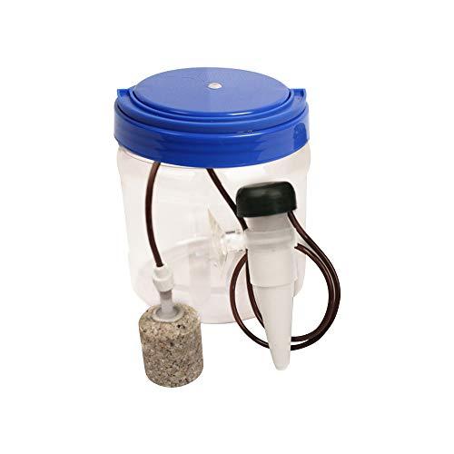 KEBY - Fuente de Agua para Reptiles, 1300 ml, simulada, Gotas de Agua, purificador de Agua para Agua Potable y Humedad