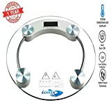 Ionix Electronic weight machine for body weight Thick Tempered Glass & Electronic Digital