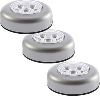 3 X Wireless LED Under Cabinet Light Lamp Bulb Lighting