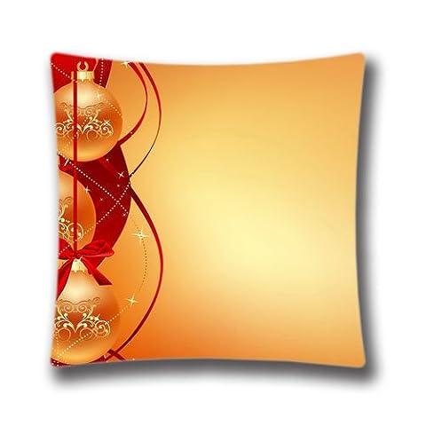 Vacances de Noël Couvre-lit Taie d'oreiller mignon Renne Bonhomme de neige Père Noël Taie d'oreiller Vacances de Noël Fond Housse de coussin, 50,8x 50,8cm (deux côtés)