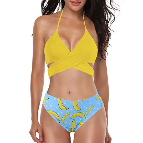 Asalinao Push Up Bandeau Bikini Set Damen Push Up Badeanzug Größen erhältlich