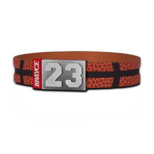 BRAYCE® Basketball Armband mit Deiner Trikot Nummer 00-99 I Basketball Trikot für's Handgelenk personalisierbar & handgemacht