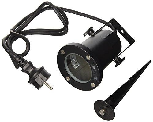 SLV Nautilus Spike XL, schwarz, GU10 ESL, maximal 11 W, inklusiv 1,5 m Kabel mit Stecker 227410