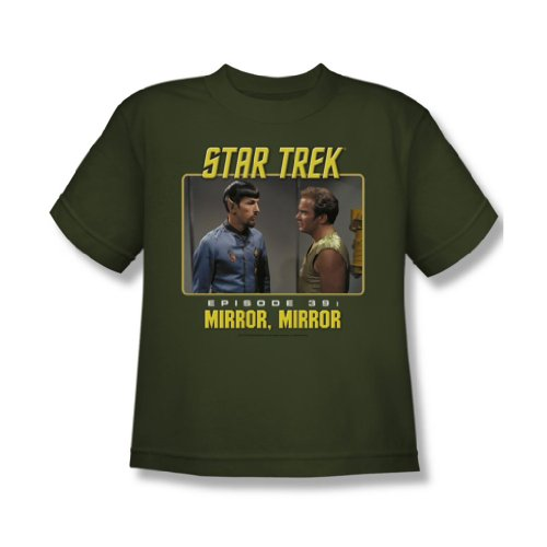 "Star Trek - St / Mirror, Mirror ""Jugend T-Shirt in Military Green Military Green"
