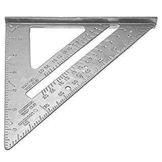 Demiawaking Aluminum Alloy Speed Square Roofing Triangle Angle Protractor Miter Framing Measurement Carpenter Measuring Layout Tool