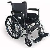 Silla de ruedas S220 de acero y autopropulsable - Prim ancho de asiento 46 cm