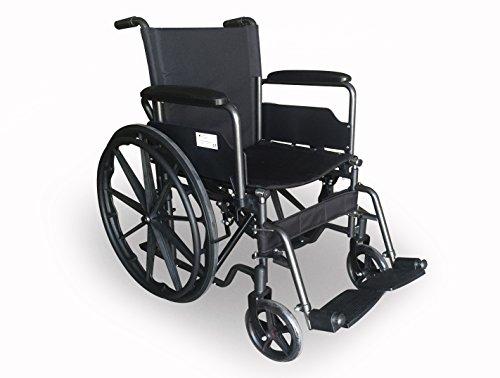 Carrozzina sedia a rotelle pieghevole ad autospinta 46 cm per anziani disabili