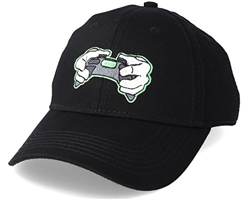 Hands of Gold All Day Curved Cap Snapback, Black/Neon Green, One Size