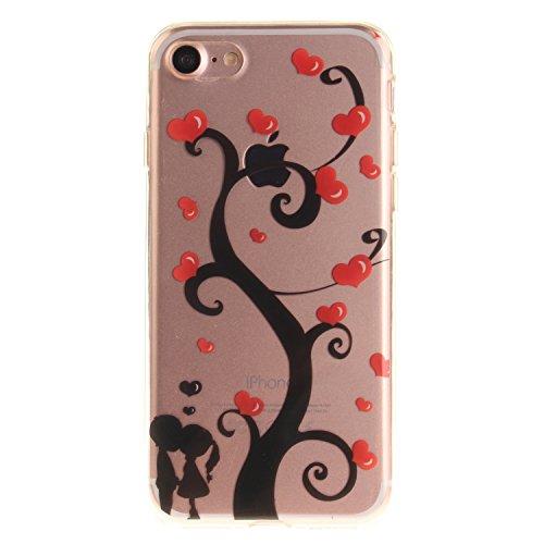 MOONCASE iPhone 7 Coque,Etui de Protection Coque Slim Antidérapant Case en TPU Gel Avec Absorption de Chocs pour iPhone 7 TX20 TX10