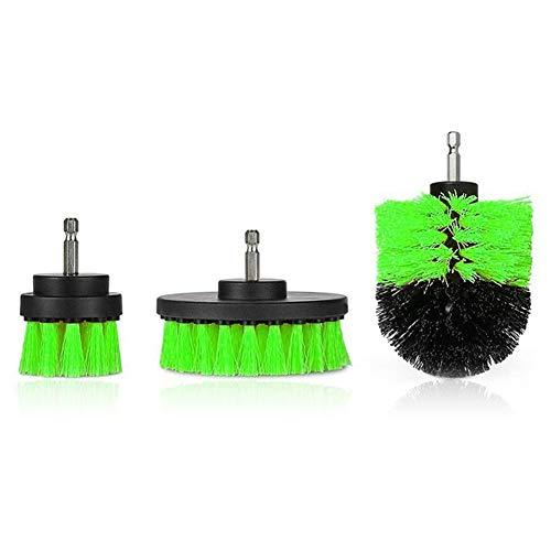 Heavy Duty Stiff Scrub Brush Reinigung Kit (3PCS), Drill Powered Reinigung Rotary Electric Brush Kit mit langen Reichweite Anlage für Auto, Bad, Waschbecken, Arbeitsplatte, Waschküche Reinigung - Standard Drill Kit