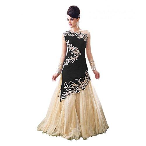 Nena Fashion Women's Black Colour Indo Western Latest Party Wear Designer Georgette...