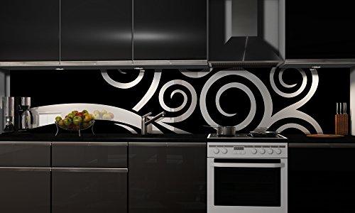 Preisvergleich Produktbild Küchenrückwand Folie selbstklebend Spritzschutz Fliesenspiegel Deko Küchenzeile Design | mehrere Größen