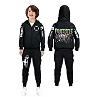 Fortnite Print Boys Clothing set Sweater+pants 2PCS Outwear Hoodie