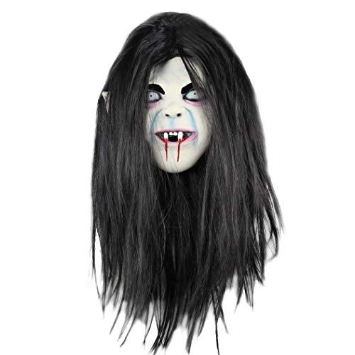 Ellyeall Böser Teufel Gruselige Maske Gänsehaut Masken Neuheit Schrecklicher Dämon Auf Ängstliche Atmosphäre Kostüm Zubehör Deluxe Böse,A (Deluxe Bösen Kostüm)