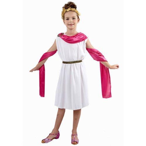 Mädchen griechisch / römischen Göttin Kostüm Alter 4-11 (Römische Griechische Kostüme Und)