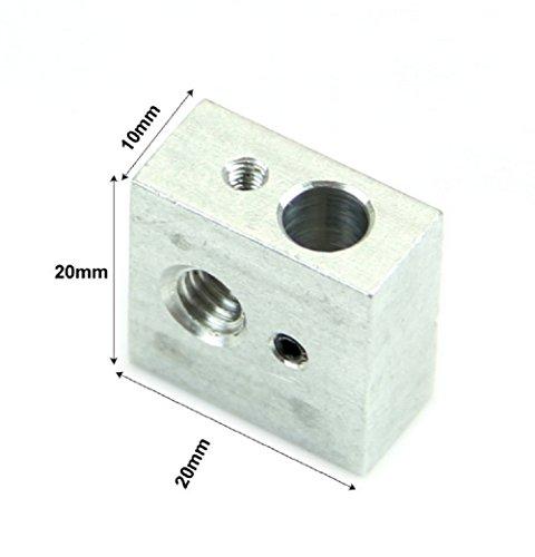 Blockheizung für 3D-Drucker MakerBot Rep Rap Flashforge Für spouters M3 und M6 - Sperre Montage Für 3D-Drucker Extruderdüse Heizpatrone