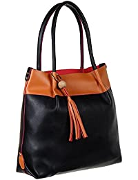 Abrazo Fashionable Black Color Hand Bag For Women's In Good PU Material - B07BGXS11Z