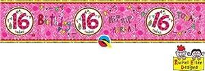 Rachel Ellen- Pancarta de fiesta, Color rosa (25030)