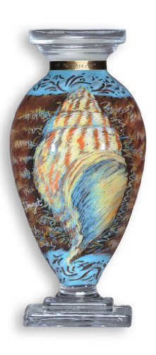 Vaso in vetro di ne 'qwa Art Shell design di Susan Winget