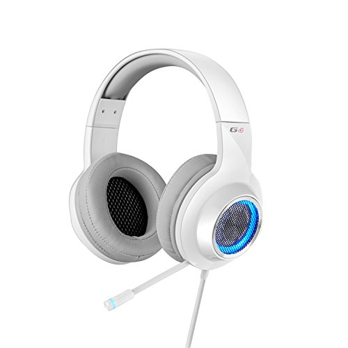 Edifier G4 Gaming Headset Retractable Boom Microphone LED Lights Mesh Open Back Adjustable Video Games for PC, Laptop, desktops
