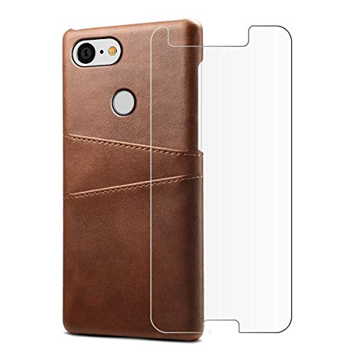 FugouSell Google Pixel 3 Case, [ Portable Wallet ] [ Slim Fit ] Heavy Duty Protective Backcover Flip Cover Wallet Case for Google Pixel 3 - As Shown,Dark Brown