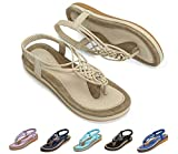 Best Women Sandals - Socofy Women's Flat Sandals Summer Clip Toe Flip Review