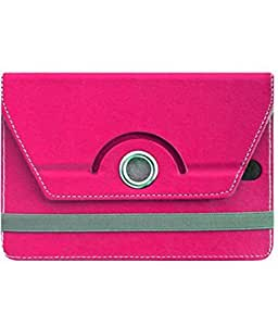 Pink Stylabs Tablet Book Flip Case Cover For Spice MI-710(Universal)