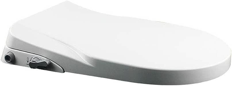 YUI Bidet Siège de Toilette, Sièges Défécation Aide Nettoyage Féminin Sécurité Santé, Multifonctionnel Accessoires Salle de Bain Blanc Plastique
