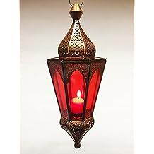 Orientalische Orient Hängelaterne Laterne Lalita rot