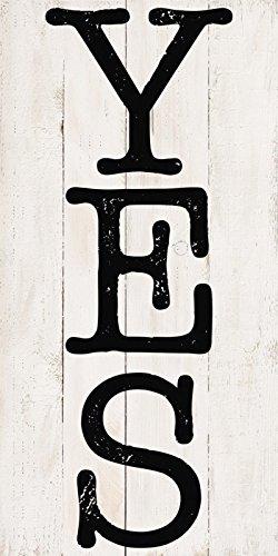 Artland Wand-Bild geweißtes Holz-Bild digital bedruckt mit Motiv Jule Ja Statement Bilder Sprüche & Texte Graphische Kunst Schwarz 100 x 50 x 4,2 cm B3JY