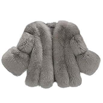 Trenchcoat Damen UFODB Elegant Frauen Solid Mode Jacke Pelz