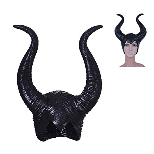 1Pcs modische Neuheit Creepy Maleficent Horns Hüte für erwachsene Frauen Cosplay Halloween Party Kostüm Jolie Kopfstück Hut Cap (Halloween Kostüm Maleficent'kinder)
