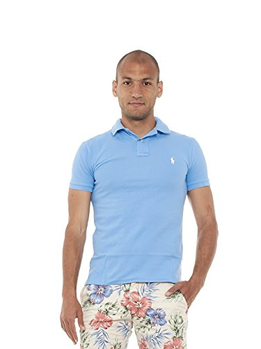 Polo Ralph Lauren Herren Poloshirt Sskcslm1-Short Winslow Red HARBOR ISLAND BLUE