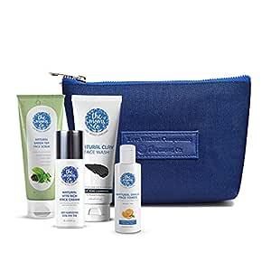 The Moms Co. Oily Skincare Kit I Balanced Care to Oily Skin I Remove Impurities I Tighten Pores I Oil Free Look I