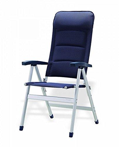 Chaise pliante avec faible démontée-sTABIELO exclusif de chaise pliante en aluminium-bas dossier ergonomique-coloris : bleu-fISHBONE holly ® produits sTABIELO holly-innovation sunshade-fabriqué en allemagne
