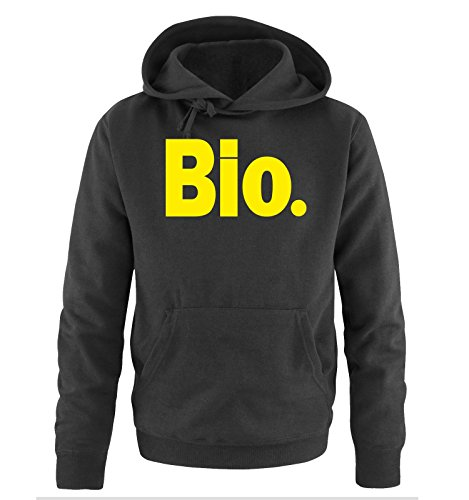 Comedy Shirts - Bio. - Uomo Hoodie cappuccio sweater - taglia S-XXL different colors nero / neon giallo
