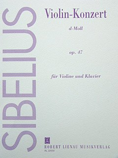 KONZERT D-MOLL OP 47 - VL ORCH - arrangiert für Violine - Klavier [Noten/Sheetmusic] Komponist : SIBELIUS JEAN