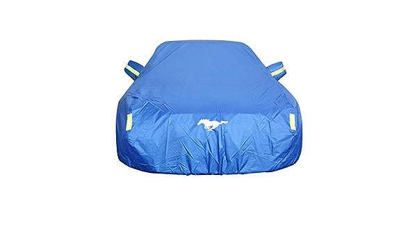 Autoabdeckung Ford Mustang Car Cover Spezielles Autoplanen Car Cover Regendicht Sonnencreme Verdickung Isolierung Car Cover Farbe Blau Auto