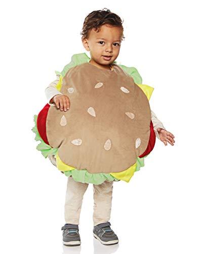 Horror-Shop Hamburger Baby- & Kleinkinderkostüm für Fasching XL (Baby Hamburger Kostüm)