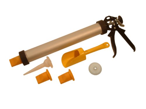 Roughneck Mortar Gun Set Includes Nozzles, Scoop, Plunger Test