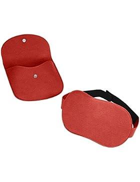 Lucrin–Antifaz para dormir–Piel granulada rojo rojo