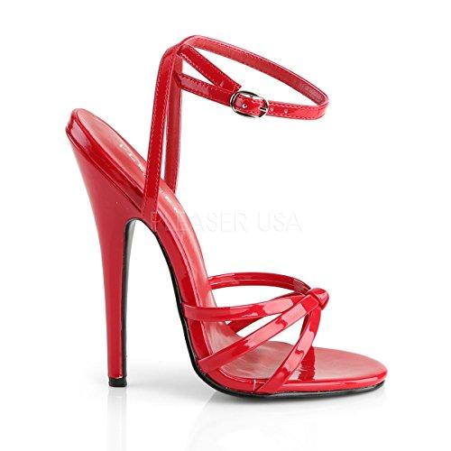 Higher-Heels - Scarpe con cinturino alla caviglia Donna Vernice, rosso