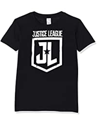 I-D-C Justice League Movie-Foil Logo, Camiseta para Hombre