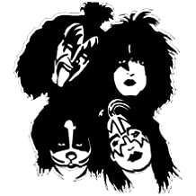 Wholesale Soft Cotton Pillowcase Print Hard rock and heavy metal Band Kiss Paul Stanley Decorative Cushion Covers 2 Sides 18 X 18-1