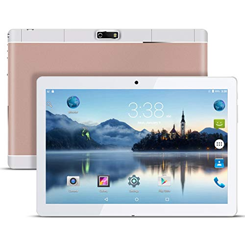 Qimaoo 9.6 Zoll 3G Tablet PC,Metall Schale,1G RAM +16G ROM,Dual-SIM,IPS HD Display 1280x800,Quad Core CPU,Android 7.0, WiFi WLAN Bluetooth,7 Farben zur Wahl Gold (Rosa-kamera-recorder)